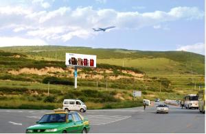 九黄机场专用通道路段13号位单立柱三面广告塔_0