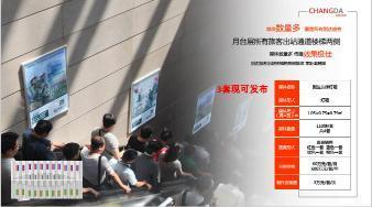 北京南站高铁月台层所有旅客出栈通道楼体两侧广告位