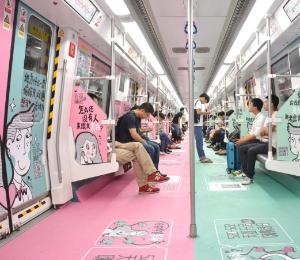 深圳地铁品牌列车创意内包车
