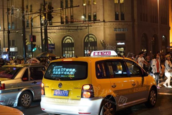 上海市出租车后窗投影广告