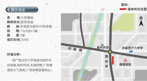 许昌市 许禹路与西外环 大型看板