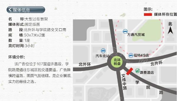 许昌市 北外环学院路 大型跨街看板