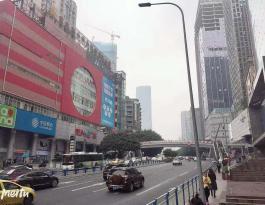 重庆市江北区观音桥商圈墙体户外广告位