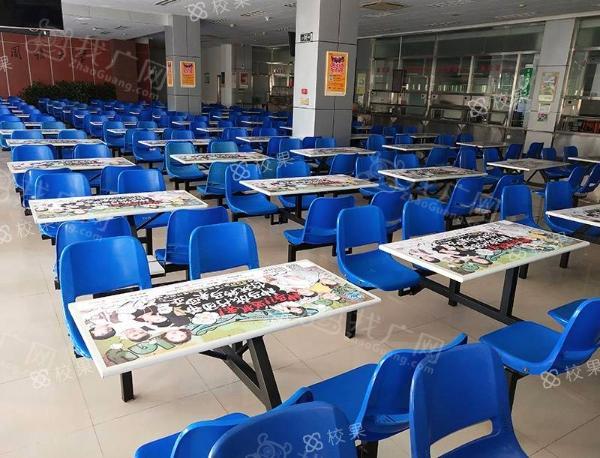 校果-北京语言大学 校园食堂桌贴广告投放 校园营销推广
