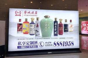 宁夏银川西夏区万达广场车库灯箱媒体广告