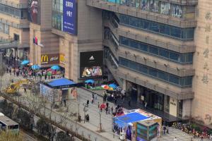 浙江杭州市下城区武林广场杭州百货LED户外大屏