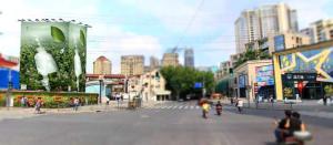 上海市地铁10号线6号出口新天地户外广告