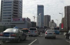 上海市嘉定区五角场商圈东方商厦楼顶广告