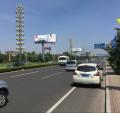 山东省青岛市城阳区机场迎宾路高炮喷绘广告牌