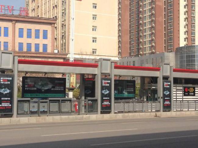 河南郑州市金水区三环快速公交站台灯箱户外广告位
