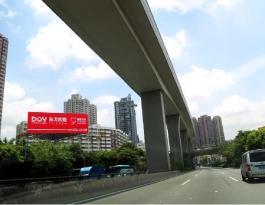 广东省深圳市龙岗区龙岗大道大芬立交立柱广告