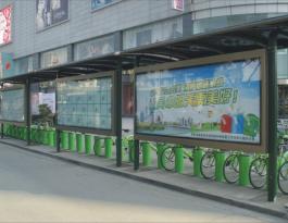 江苏苏州市姑苏区木渎镇公共自行车亭户外广告位