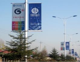 吉林省白山市白山至江源北线路灯杆户外广告