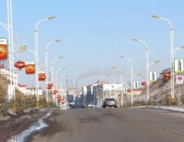 吉林省白山市靖宇县靖宇大街西出口路灯杆广告