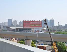湖北武汉市汉阳区东风大道汉阳客运中心双面立柱广告