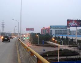 湖北省武汉市蔡甸区民营工业园户外立柱广告牌