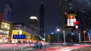 广东深圳市罗湖区万象城商圈鼎丰大厦LED大屏