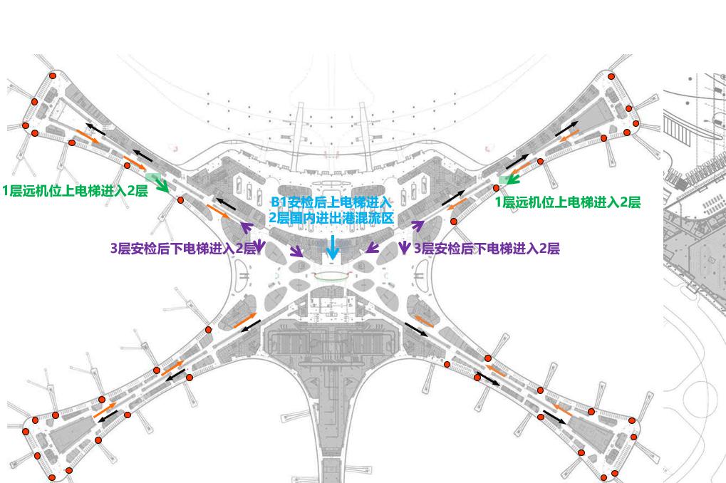 北京市大兴机场出发到达候机厅登机口LED屏广告媒体 - 点位图