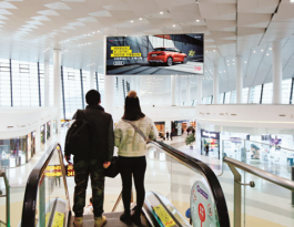 河南郑州市新郑国际机场中心商业区吊旗广告位