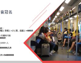河南郑州市地铁语音媒体冠名报站广告