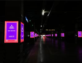 石家庄市裕华区万达广场主体包柱灯箱广告