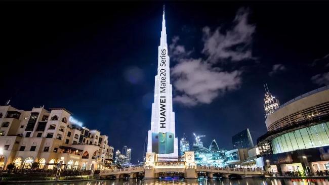 华为花500亿在迪拜塔打广告 户外广告市场仍是LED屏企掘金重地?