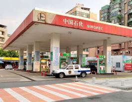 广东省江门市中石化加油站框架海报广告
