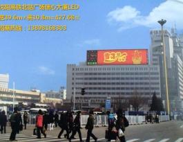 辽宁沈阳市沈河区高铁北站广场瑞心酒店楼顶户外大牌