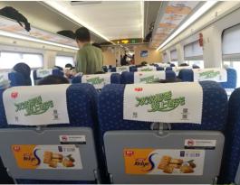 海南海口市美兰国际机场专线巴士车枕套广告