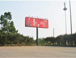 海口市秀英区滨海西海岸南港码头广场单立柱广告