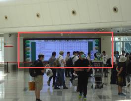 海南海口美兰国际机场出发厅安检通道LED屏