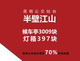 云南昆明市公交站台候车亭双面广告位
