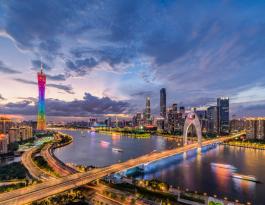 广东广州市中心地标媒体广州塔LED