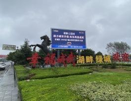 山东菏泽成武县五岔路口市民广场LED屏