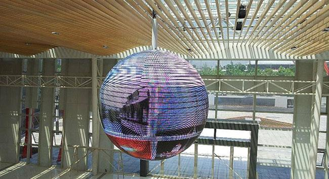 新兴创意球形LED显示屏 让受众可360°全视角观看