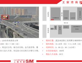 武汉市商圈王家湾摩尔城户外LED屏广告