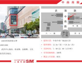 武汉市武昌区商圈中商广场户外LED屏广告发布