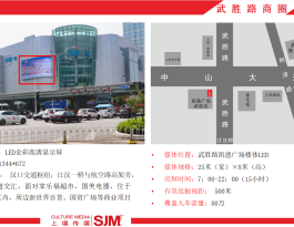 武汉市商圈武胜路凯德户外LED屏广告位
