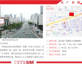 武汉市武广商圈苏宁电器户外LED屏广告位招租