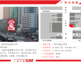 武汉洪山区商圈广埠屯电脑大世界户外LED广告投放