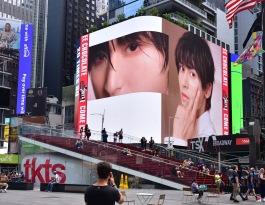海外美国全美国纽约时代广场第七大道艾迪逊酒店外墙海外国际LED屏
