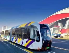 黑龙江哈尔滨松北区国家经济开发区智轨项目公交车车身广告