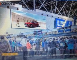 北京朝阳区全朝阳区首都国际机场T2国内出发值机区内部机场灯箱广告