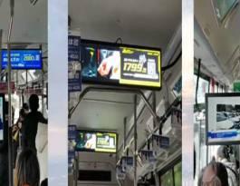 湖南长沙158路公交车LED屏