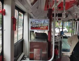 云南红河哈尼族彝族自治州蒙自县蒙自公交车司机座椅背后公交车广告机/电视机