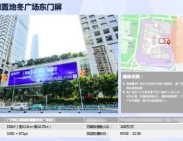 广东广州天河区珠江新城高德置地冬广场东门屏商超卖场LED屏