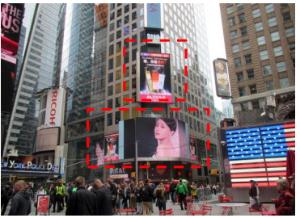 美国纽约时报广场43街7大道广告媒体